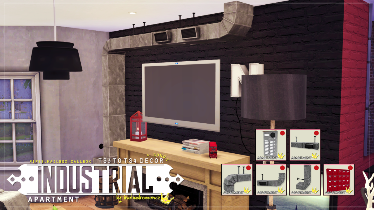 my sims 4 blog: industrial apartment decor setinabadromance