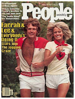 lee majors, farrah fawcett, running