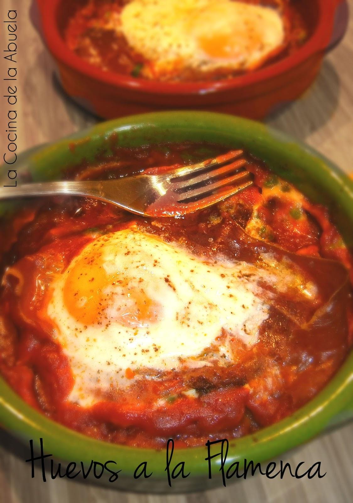 Huevos a la Flamenca. Receta fácil y rápida.