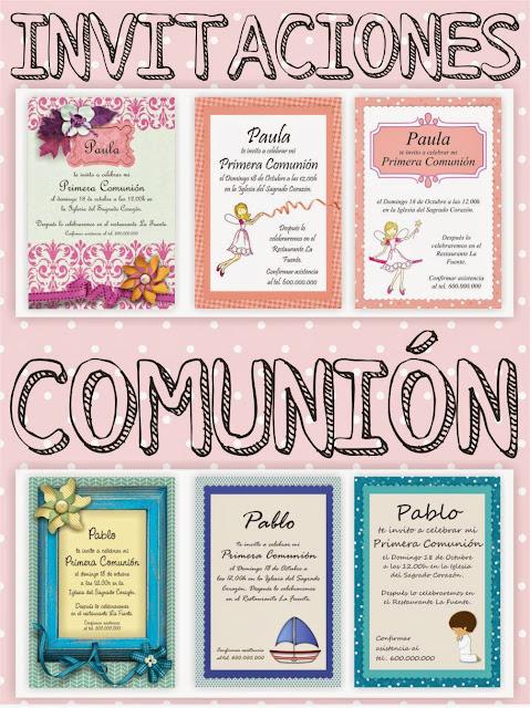 invitaciones comunión