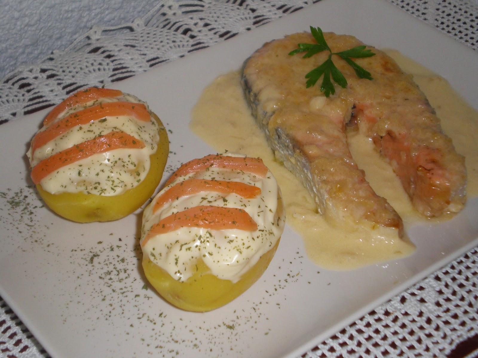Genzo en masterchef salm n al horno con salsa beurre blanc - Salmon con champinones ...