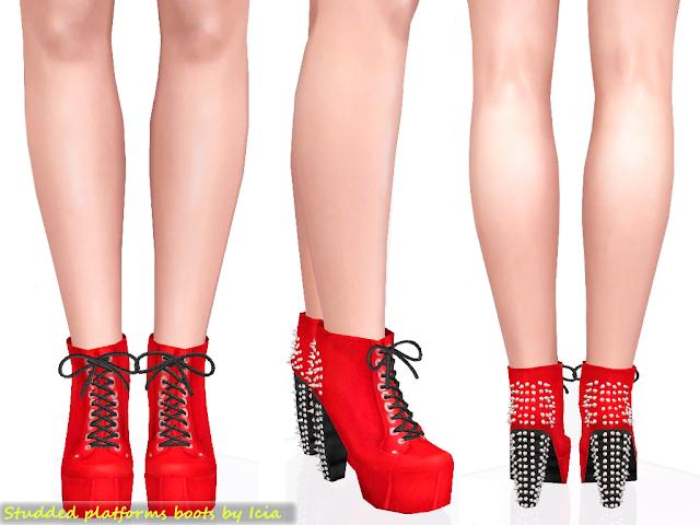Lita Platforms by Icia Spike+litas+red