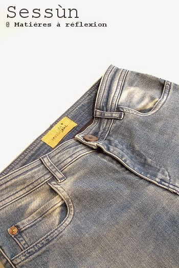 Jeans sessùn bleu clair délavé slim stretch stoneford