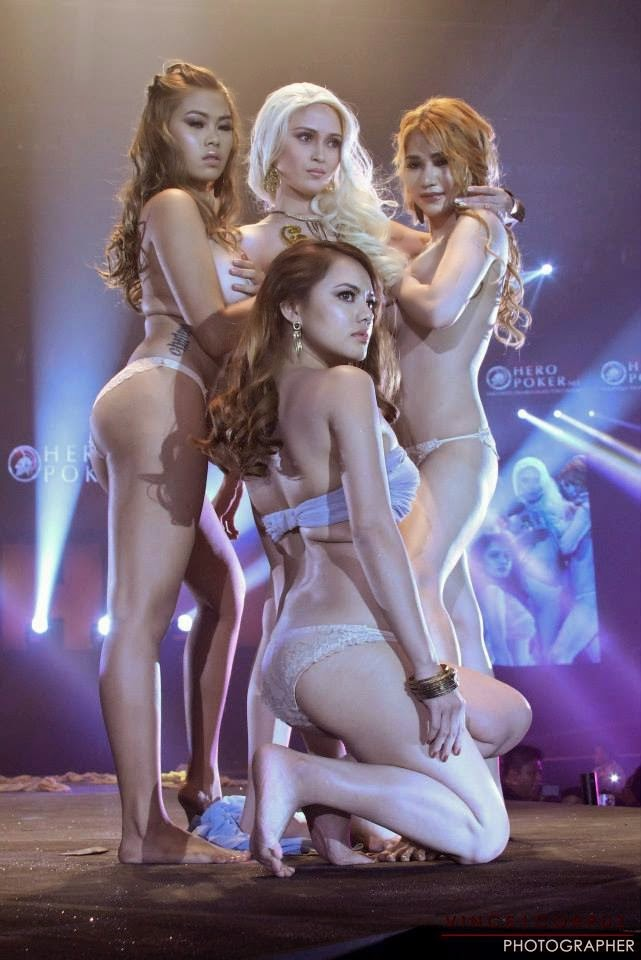 naked models at 2014 fhm victory party 01