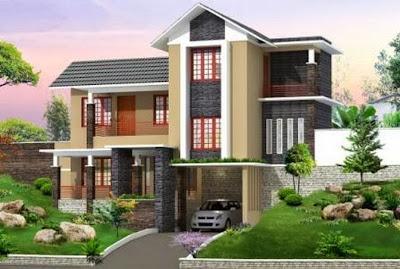 Model Rumah Mewah 2 Lantai 2014