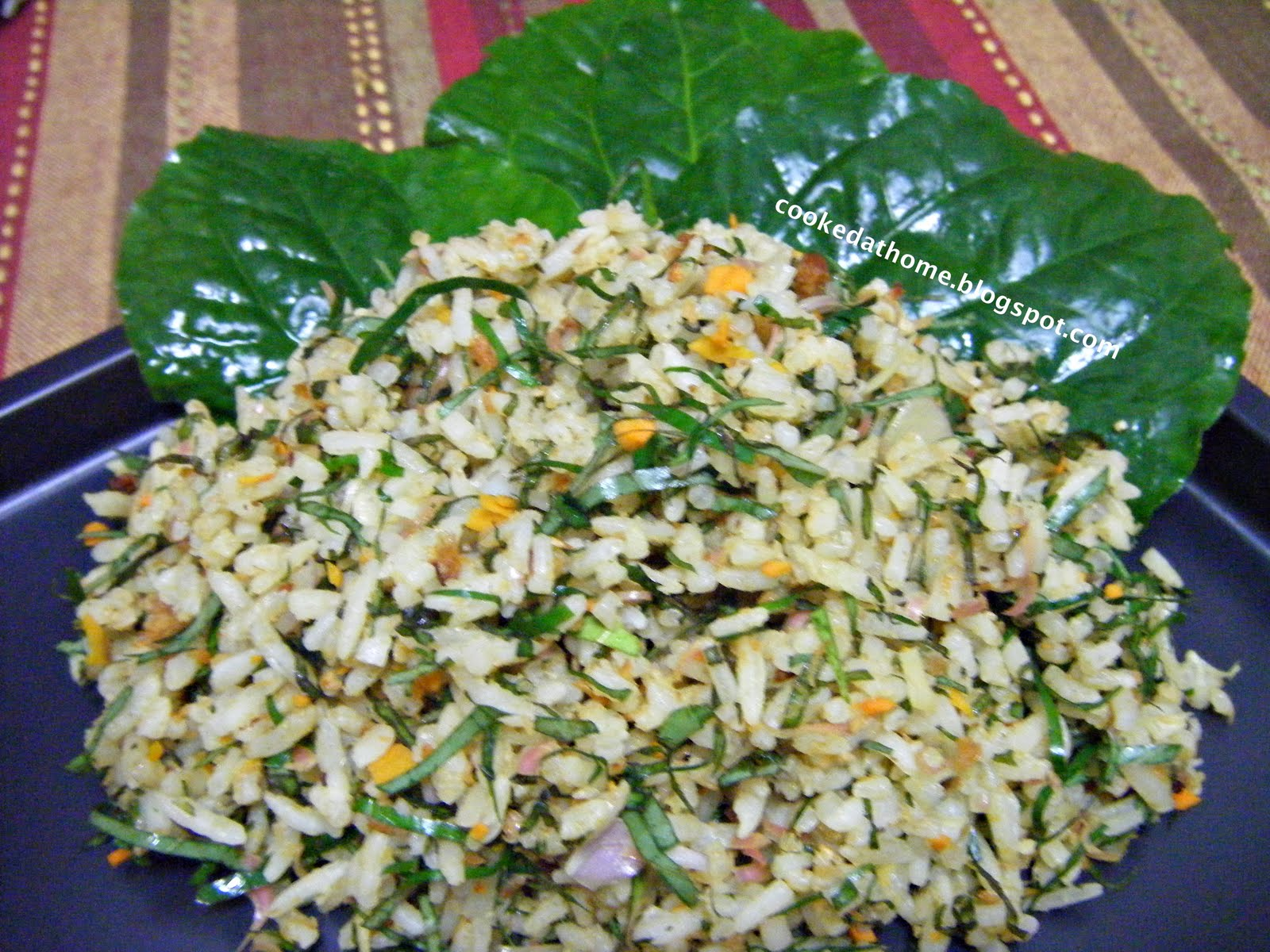 Cooking @ Home: Nyonya Herbed Rice (Nasi Ulam)