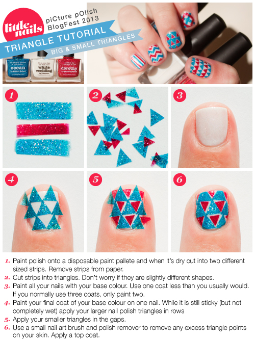 Little Nails Big & Small Triangle Tutorial