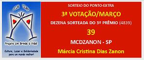 * * VENCEDORA DO PONTO EXTRA * *