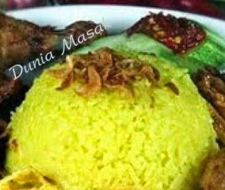 Resep Membuat Nasi Kuning Menggunakan Rice Cooker