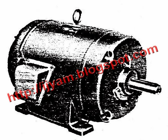 A typical three phase motor.