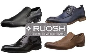Ruosh Men's Leather Formal Shoes- Minimum 55% Off @ Amazon