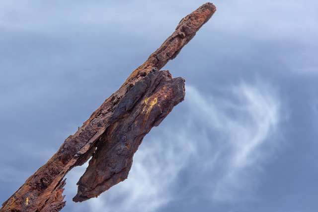 rusting metal of ss speke shipwreck