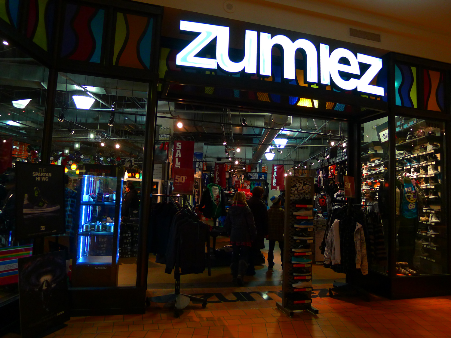 Zumiez - Whoa These Two Places Look Nearly Identical In Decor And Layout Design The Microsoft Store Is Right Across Form The Apple Store In Th Mall