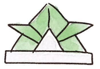 折り紙の兜のイラスト(こどもの日)