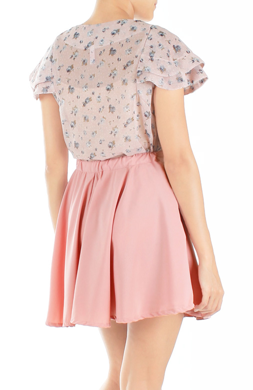 Crystal Jewel Flare Skorts – Powder Pink