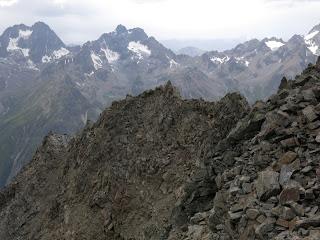 Rückblick zum oberen Teil des Westgrates