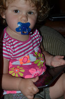 Alice with her Difrax Pacifier