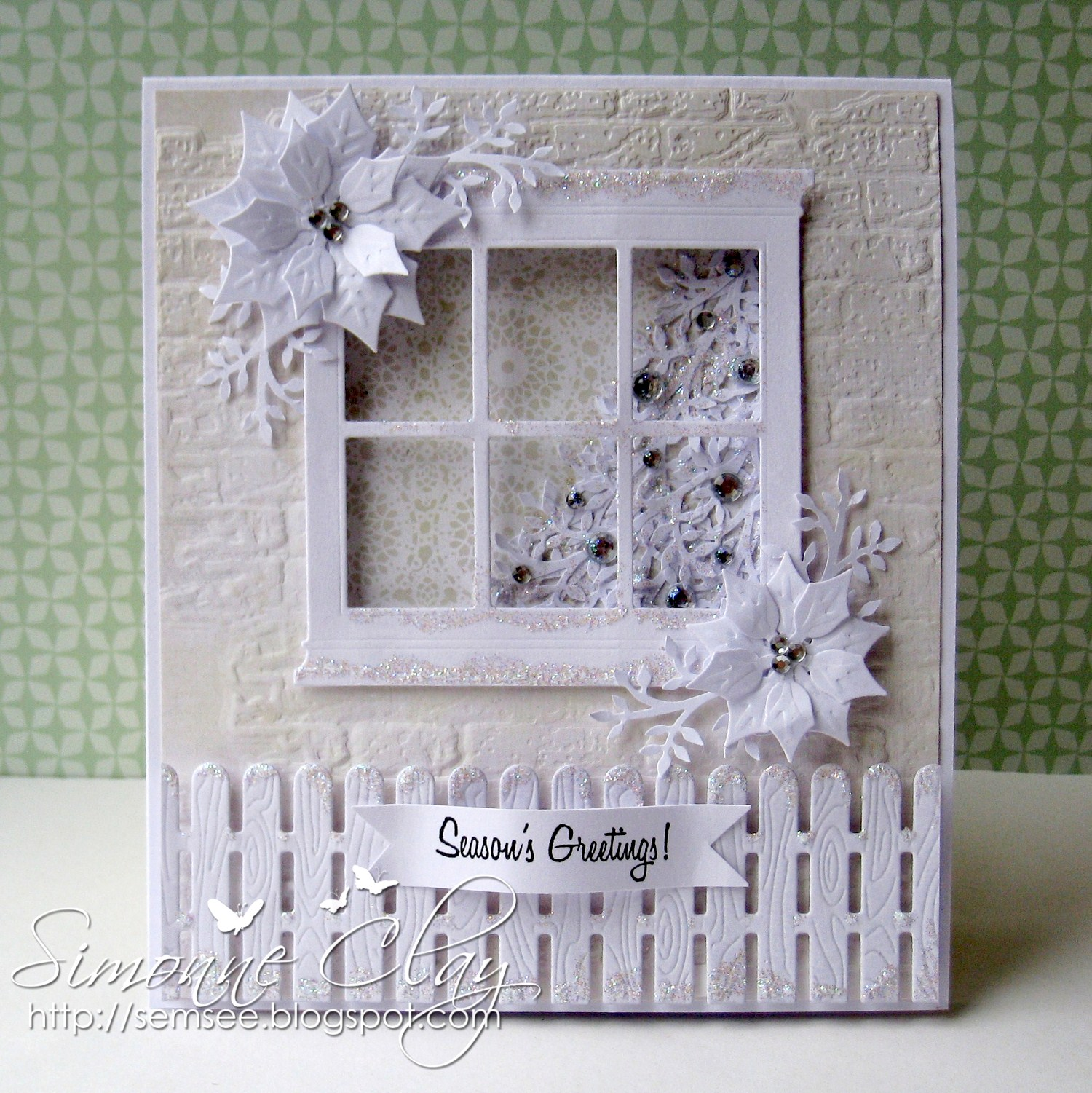 Simon Says Stamp Challenge: Simon Says...White on White