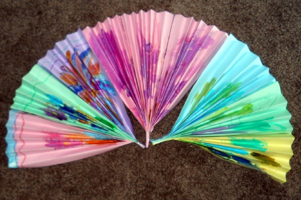 You can decorate your japanese fan with traditional for Japan craft