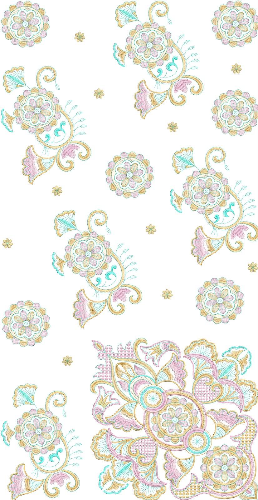 Embdesigntube Indian Traditional Saree Embroidery Design