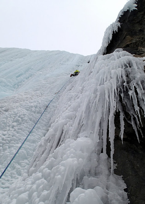 The cold world of alpine climbing.