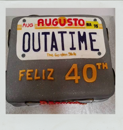 tarta cumpleaños regreso al futuro