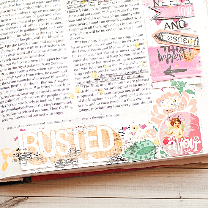 Heather Greenwood Designs | Esther 1 | #artworship #journalingbible