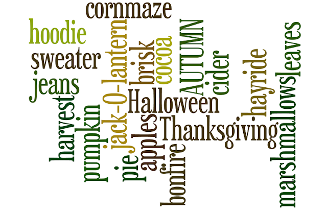 Printable Autumn sign with Wordle - www.knickoftime.net