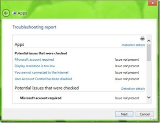 Windows 8 Metro Apps,Run the Troubleshooter