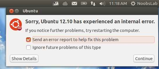 ubuntu crash reports