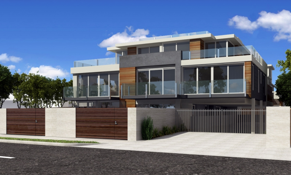 3d front europe modern house 3d design for American house designs modern