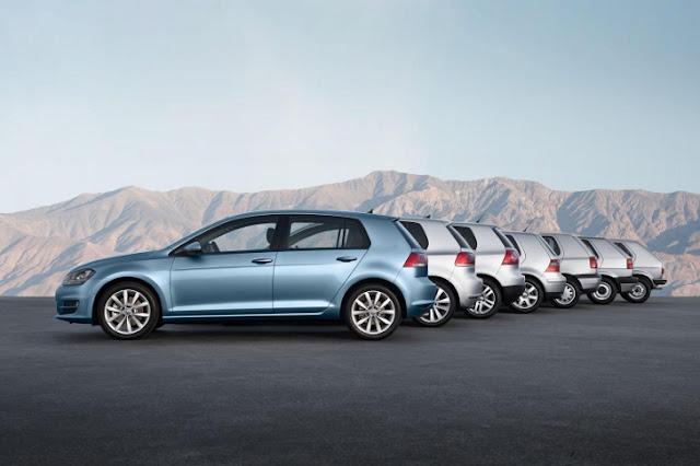 Tutte le generazioni della Volkswagen Golf