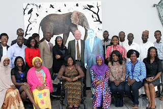 US Ambassador James Entwistle poses with Norther Nigeria contingent to the 2015 YALI - Photo Credit: U.S. Embassy/Idika Onyukwu