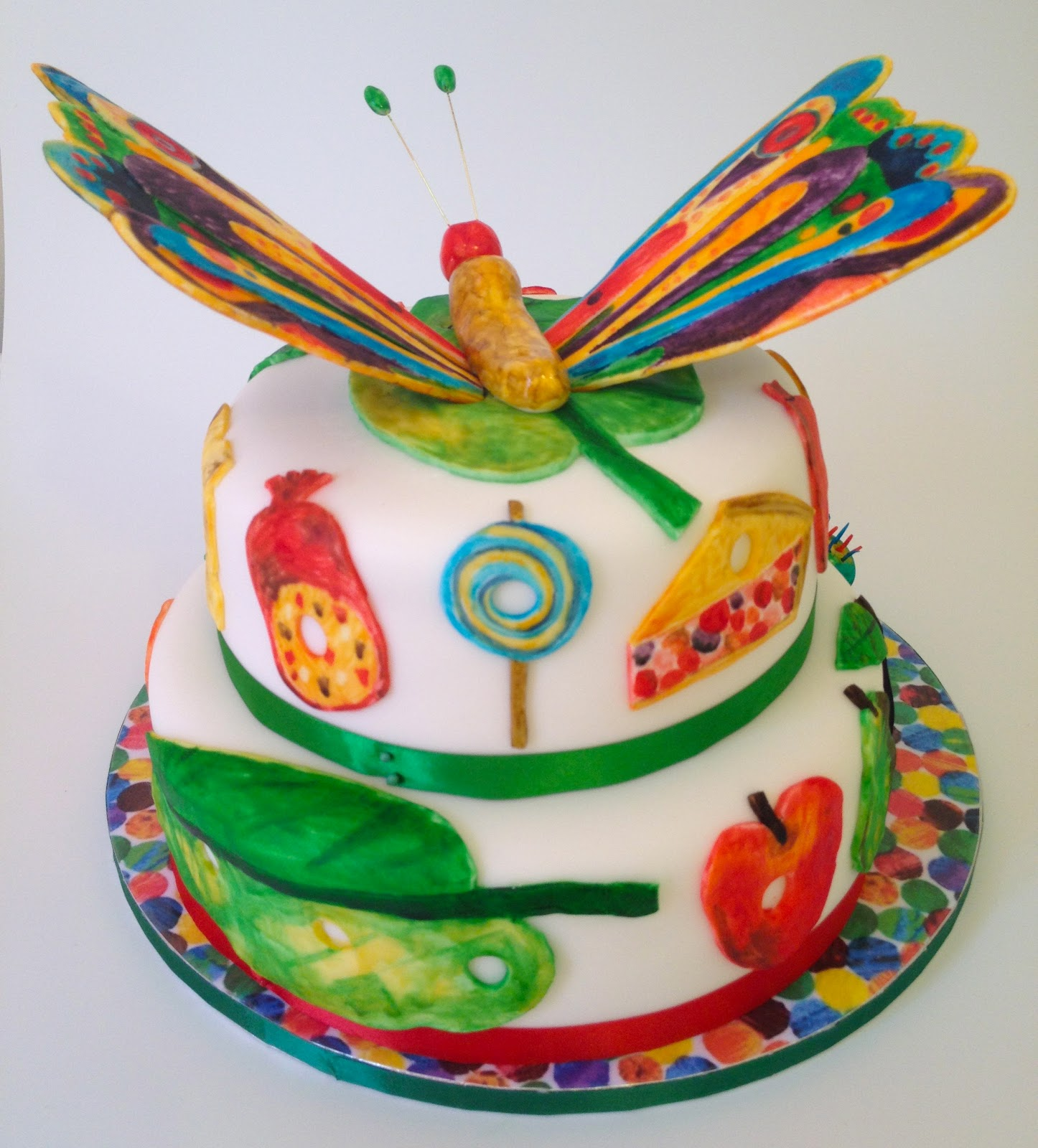 Elaines Sweet Life The Very Hungry Caterpillar Cake