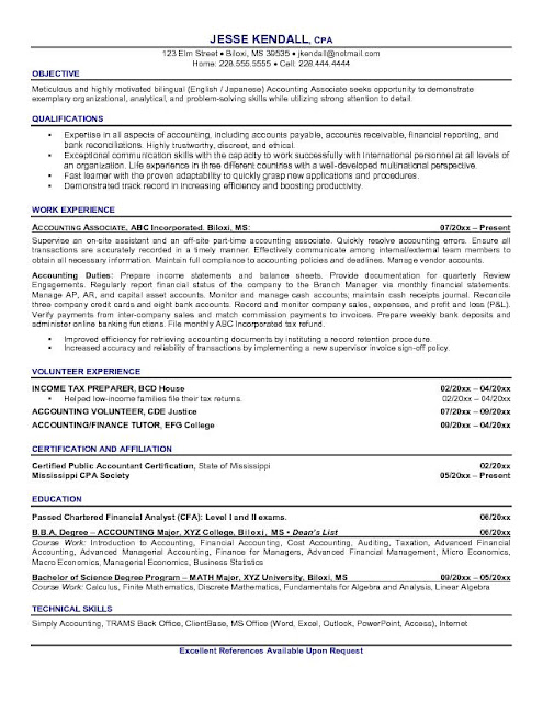 Accountant Sample Cv1