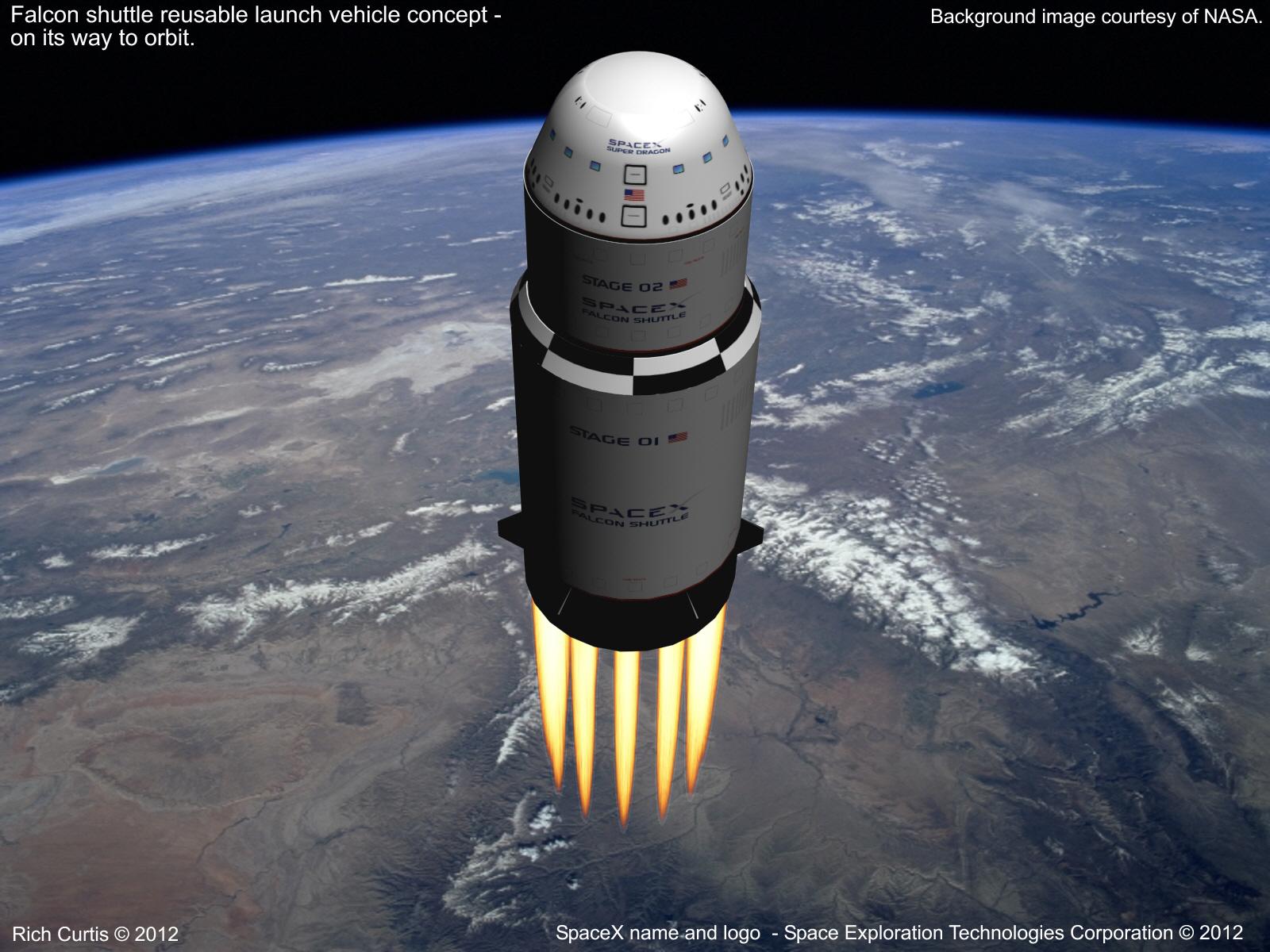 Rich Space Tech The Falcon Shuttle Reusable Launch System