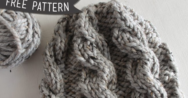 Knit Hat Pattern Us 10 : Lula Louise: Free Pattern   Chunky Cable Knit Hat (Revised)
