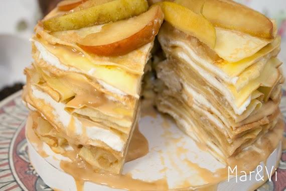 receta de tarta de crepes