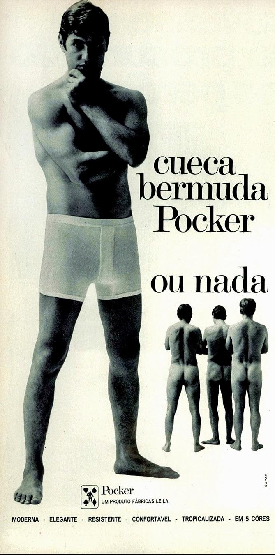 Primeira propaganda brasileira com homens nus em 1970.