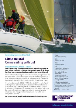 Little Bristol - Come sailing with us