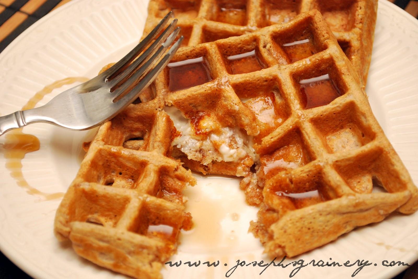 Joseph's Grainery: Cream Cheese Stuffed Whole Grain Waffles