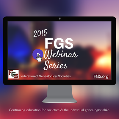 2015 Webinar Series: Your Society Can't Afford to Do A Seminar? Here's How! via FGS.org