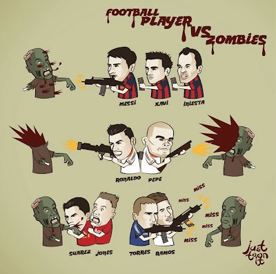 pemain bola sepak zombi