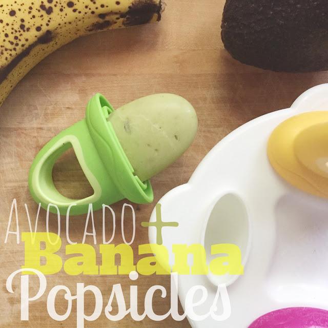 Avocado and Banana Popsicles