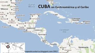 Cuba en Centroamerica y el caribe, vista con el google maps 2012