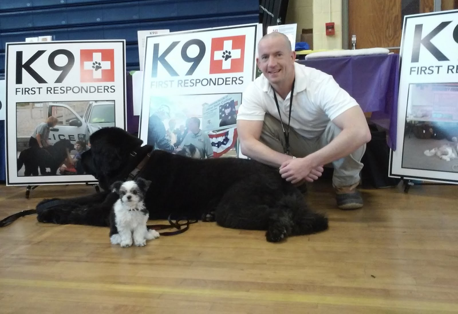 Thomas Q Kimball of Ridgefield, Connecticut with Gizmo and Socrates K9 First Responders, Inc.