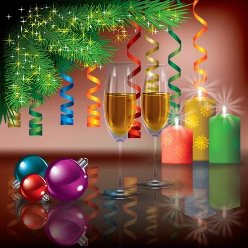 Celebración de Año Nuevo - Vector