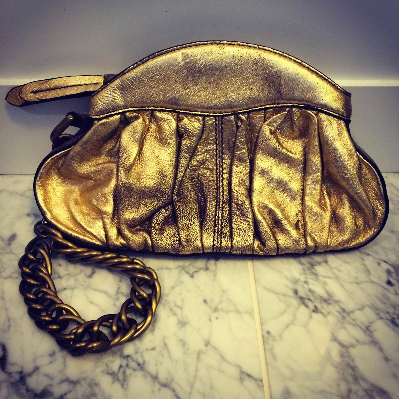 Linea Pelle Gillian Gold Clutch from Fashion Project
