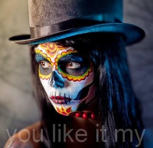 http://youlikeitmy.blogspot.com/2014/10/homemade-halloween-makeup-like-sugar.html