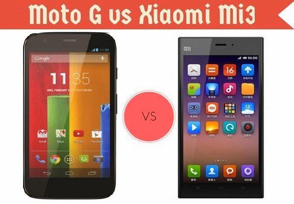 Motorola Moto G vs. Xiaomi Mi3, Motorola Moto G and Xiaomi Mi3 comparison, Motorola Moto G, Xiaomi Mi3